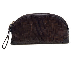 Cole Haan Brown Cosmetics Bag